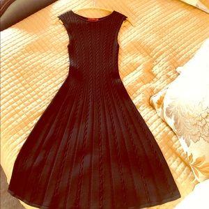 Carolina Herrera Navy Knit Dress